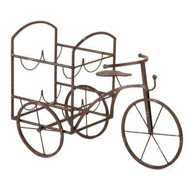 4-Bottle Iron Lorry Tricycle Wine Rack
