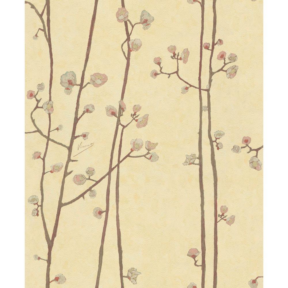 Sunrise Yellow Plum Branches Wallpaper