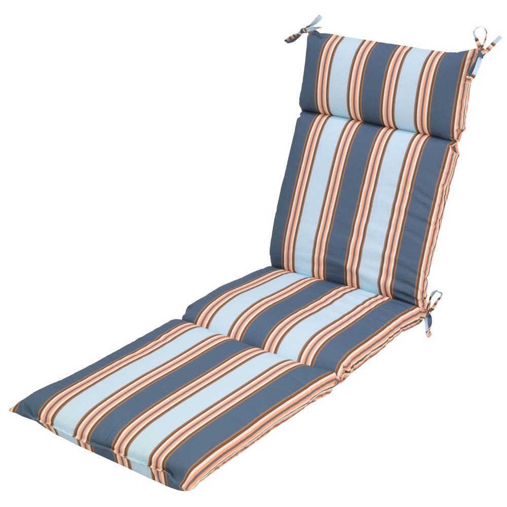 Charleston Stripe Outdoor Chaise Lounge Cushion