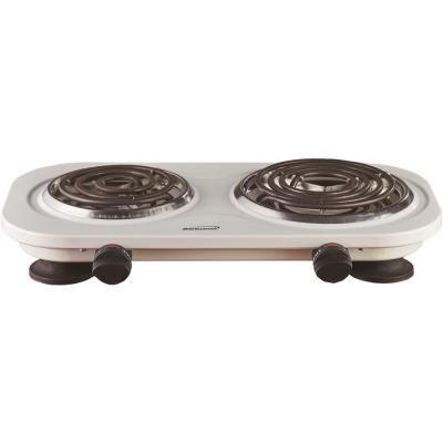 2-Burner 30 in. White Electric Burner