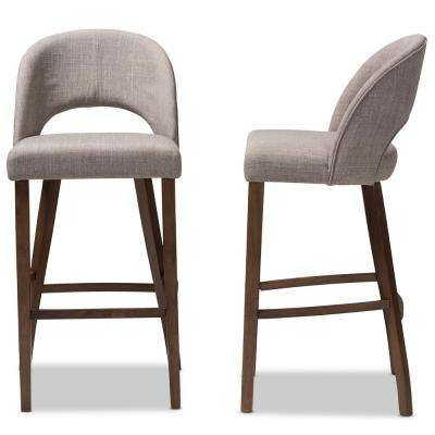 Melrose 30 in. Light Gray Bar Stool (Set of 2)