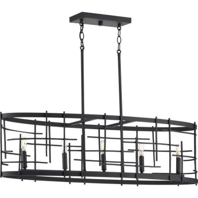 Progress Lighting Torres Collection Black 5-Light Island Chandelier