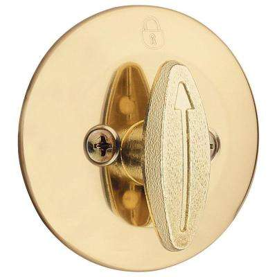 663 Series Polished Brass Single-Sided Thumbturn Only Deadbolt