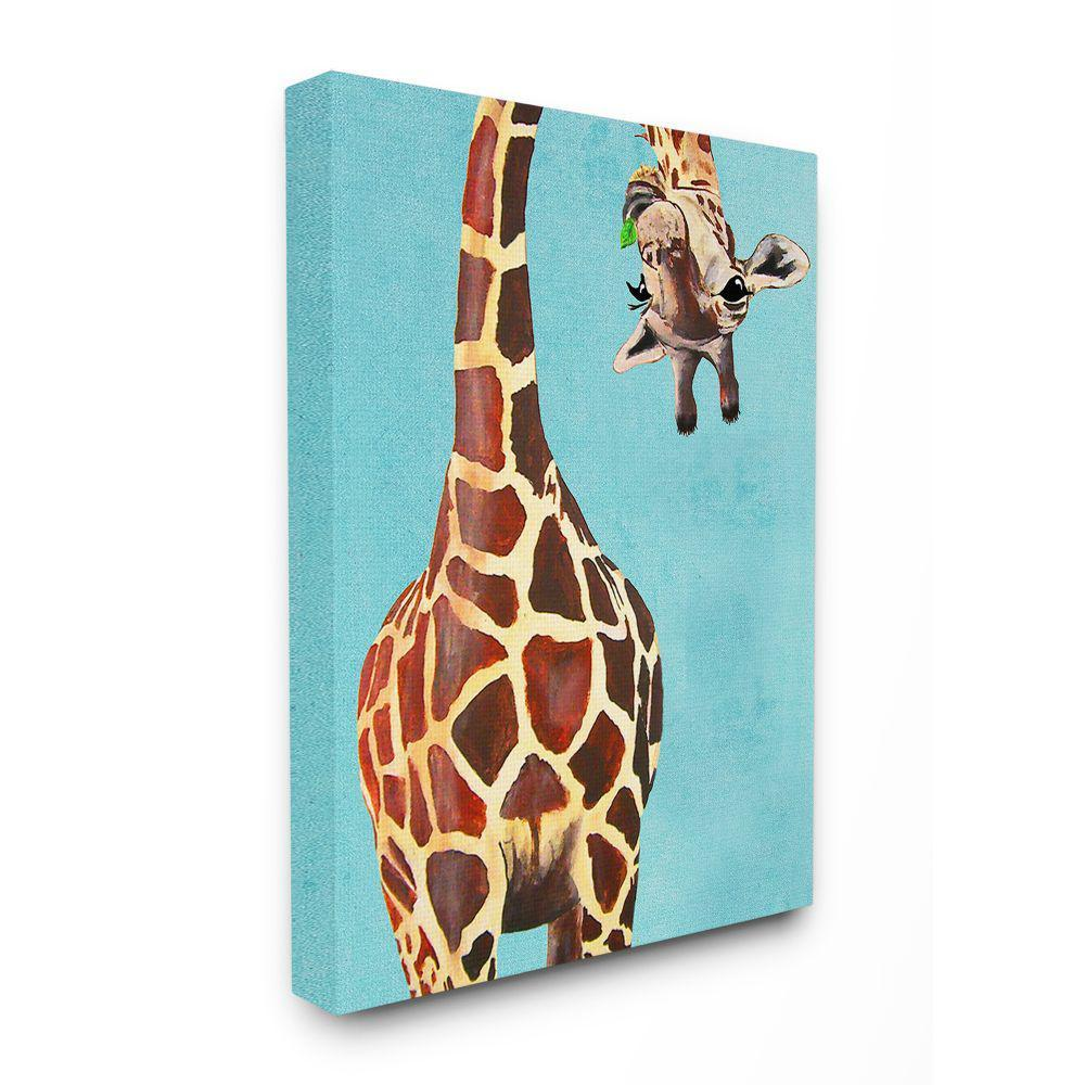 36 in. x 48 in. ''Curious Giraffe Chewing Leaves'' by Coco de Paris Canvas Wall Art