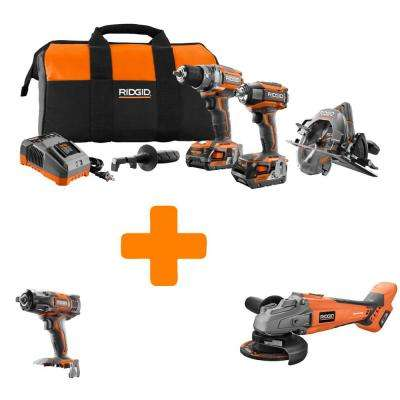 GEN5X 18-Volt Lithium-Ion Brushless Cordless Combo Kit (3-Tool) with Bonus Impact Wrench and Brushless Grinder