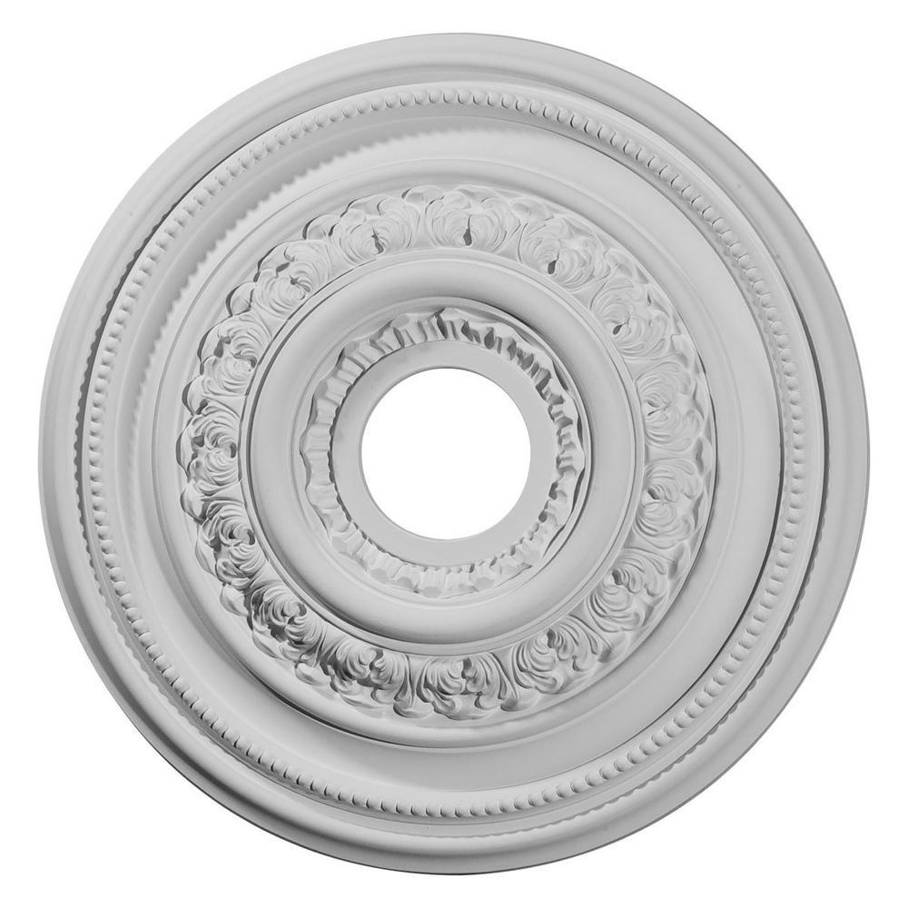 17-5/8 in. OD x 3-5/8 in. ID x 1-7/8 in. P (Fits Canopies up to 4-5/8 in.) Orleans Ceiling Medallion