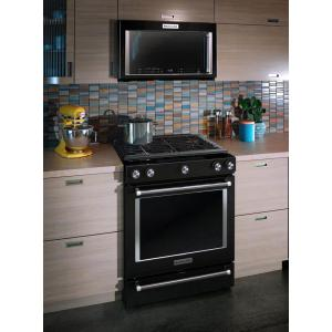 Kitchenaid 1 9 Cu Ft Over The Range Convection Microwave In Black
