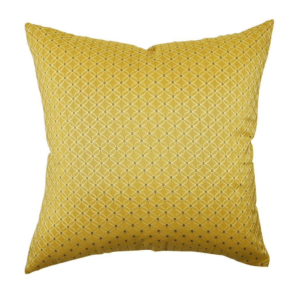 Gold Scandinavian Circle Link Throw Pillow