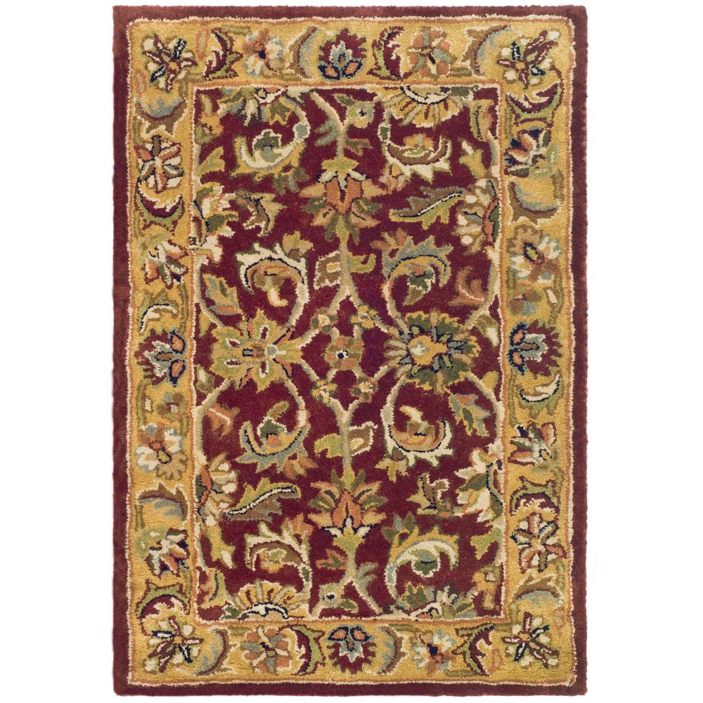 Safavieh Classic Red Gold 2 Ft X 3 Ft Area Rug Cl758c 2 The Home