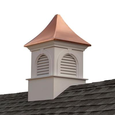 Smithsonian Newington 26 in. x 43 in. Vinyl Cupola with Copper Roof