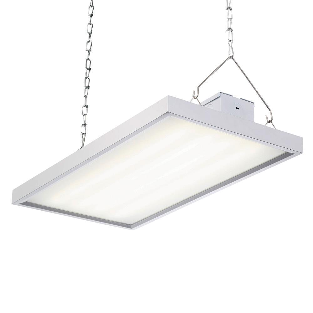 105-Watt 2 ft. White Integrated LED Backlit High Bay Hanging Light with 11,550 Lumens, 5000K