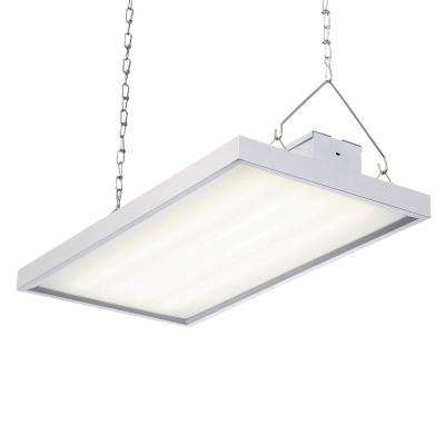 105-Watt 2 ft. White Integrated LED Backlit High Bay Hanging Light with 11,550 Lumens, 5000K
