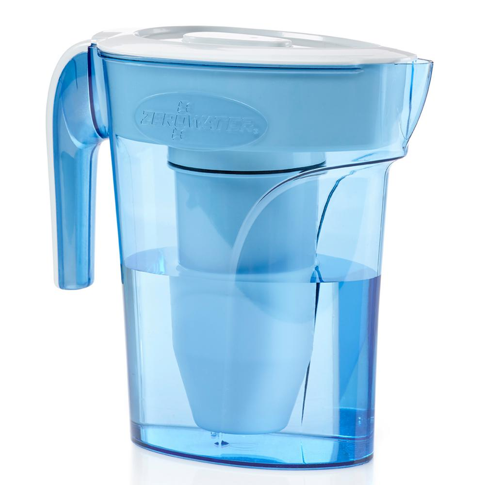 ZP-006 6-Cup Space Saver Water Filtration Pitcher, Blues