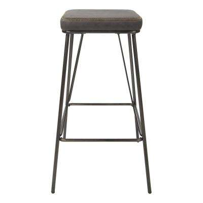Mayson 30 in. Charcoal with Gunmetal Base Barstool (2 per Carton)