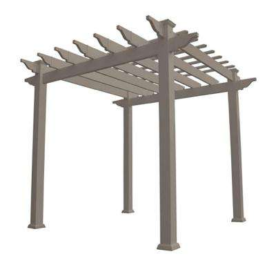 Royal 96 in. x 88 in. Khaki Vinyl Arbor