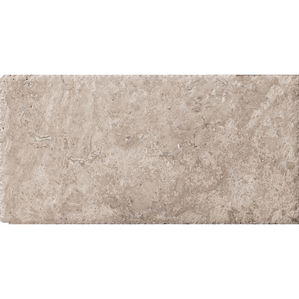 Trav Chiseled Philadelphia 7.99 in. x 15.98 in. Travertine Floor and Wall Tile (0.88 sq. ft.)