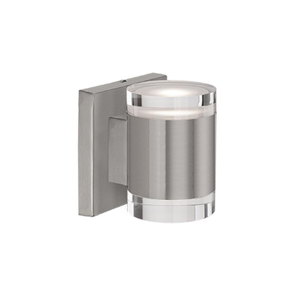 Aurora 60-Watt Equivalence Brushed Nickel Integrated LED Sconce