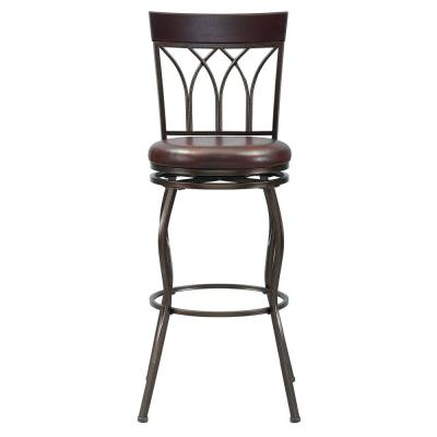 44.5 in. 2 in 1 Metal Swivel Barstool