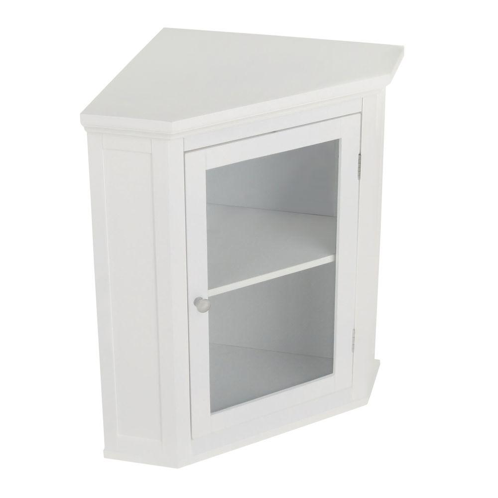 elegant home fashions wilshire 21 1 4 in  w x 23 3 4 in  h x 14 1 4 in  d corner bathroom storage wall cabinet in white hd17084   the home depot elegant home fashions wilshire 21 1 4 in  w x 23 3 4 in  h x 14 1      rh   homedepot com