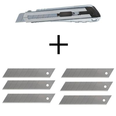 25 mm Xtreme Snap-Off Knife with 25mm Heavy-Duty Snap-Off Blades (20-Pieces)