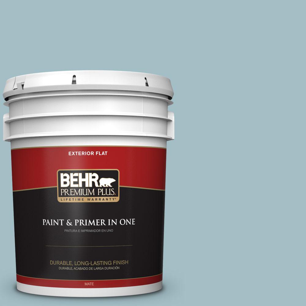 5 gal. #PPU13-11 Clear Vista Flat Exterior Paint