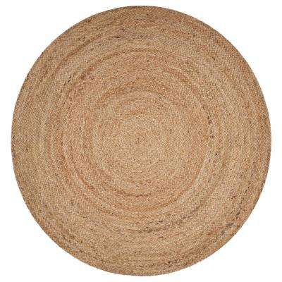 Natural Jute Natural 4 ft. x 4 ft. Round Indoor Area Rug