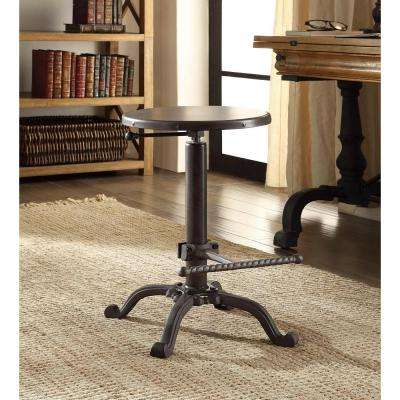 Justin Adjustable Height Chestnut And Black Bar Stool