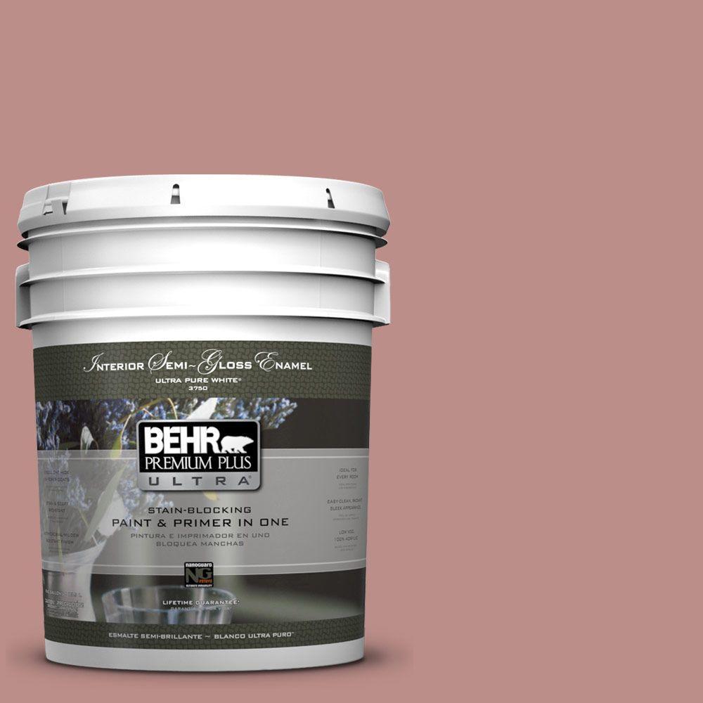 BEHR Premium Plus Ultra 5 gal. #160F-4 Ponder Semi-Gloss Enamel Interior Paint and Primer in One