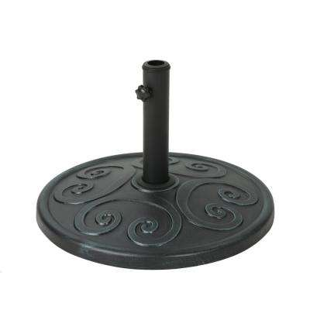 Amos 54.76 lbs. Concrete Patio Umbrella Base in Weathered Bronze