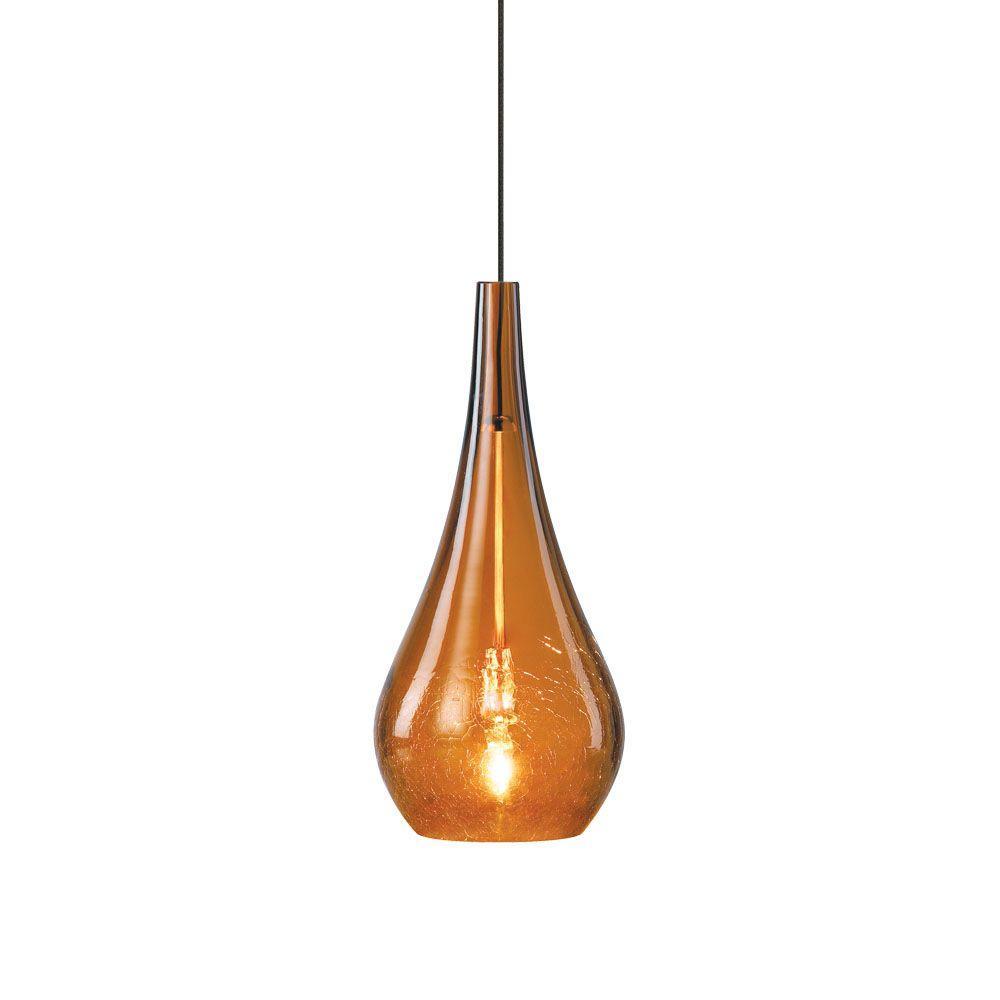 LBL Lighting Seguro 1-Light Amber Bronze Hanging Mini Pendant