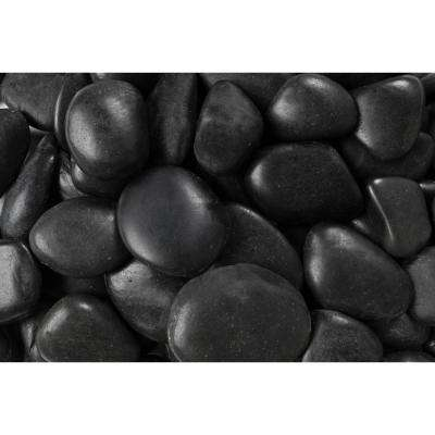 0.40 cu. ft. 1 in. to 2 in. 30 lbs. Polished Black Grade A Pebbles