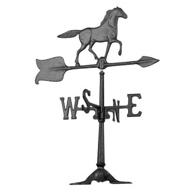24 in. Black Horse Accent Weathervane
