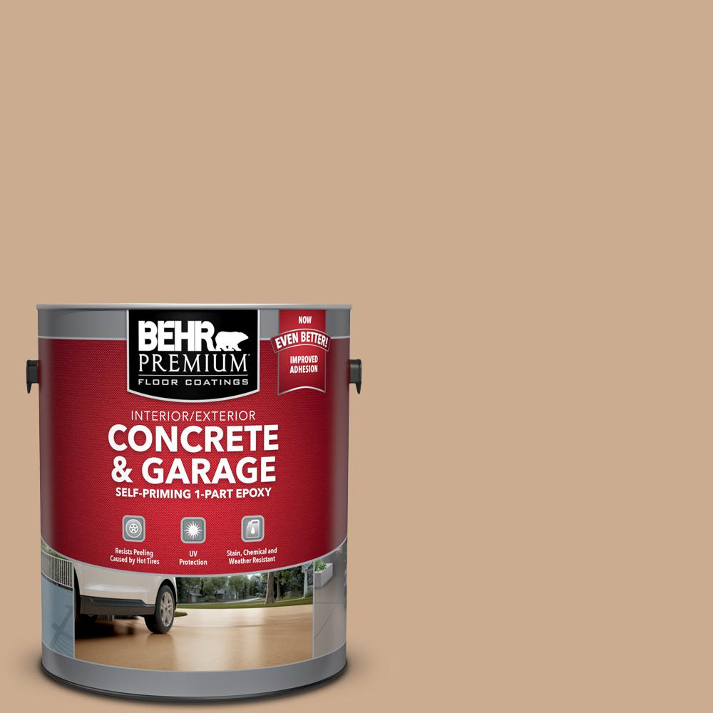 BEHR Premium 1 gal. #N250-3 Pottery Wheel Self-Priming 1-Part Epoxy Satin Interior/Exterior Concrete and Garage Floor Paint