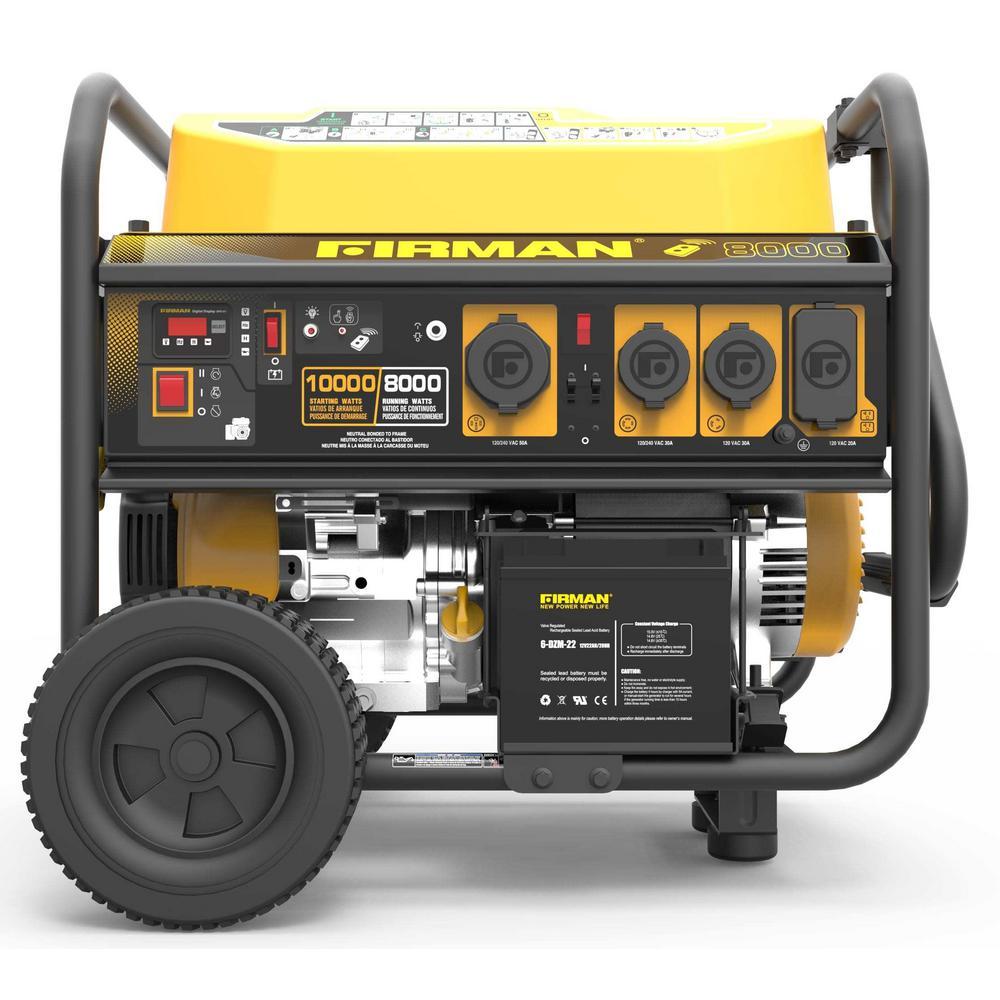 Performance Series 8000-Watt/10000-Watt Gas Powered Extended Run Time Portable Generator with Start/Stop Remote