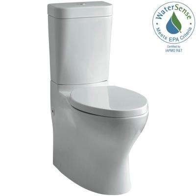 Persuade Circ 2-piece 1.0 or 1.6 GPF Dual Flush Elongated Toilet in Ice Grey, Seat Not Included