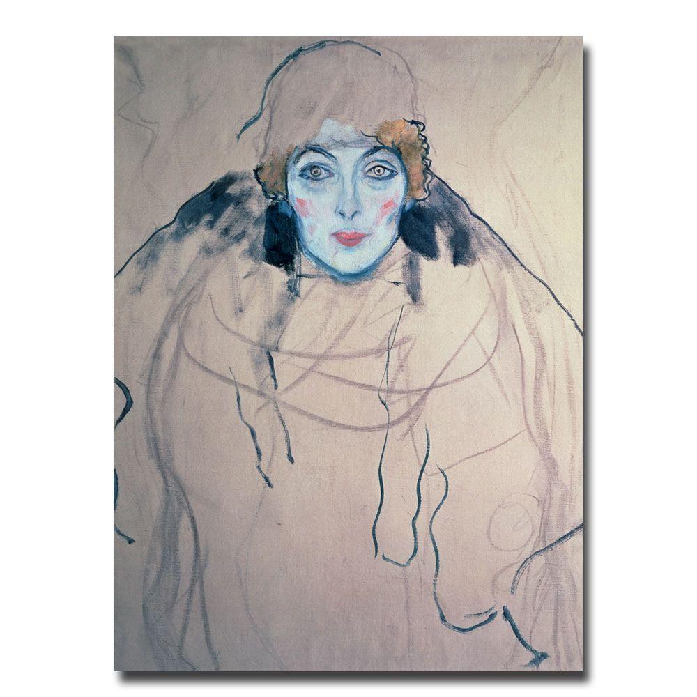 Trademark Fine Art 24 in. x 32 in. Head of a Woman Canvas Art