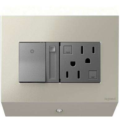 2-Gang Control Box with Paddle Dimmer and 15 Amp GFCI