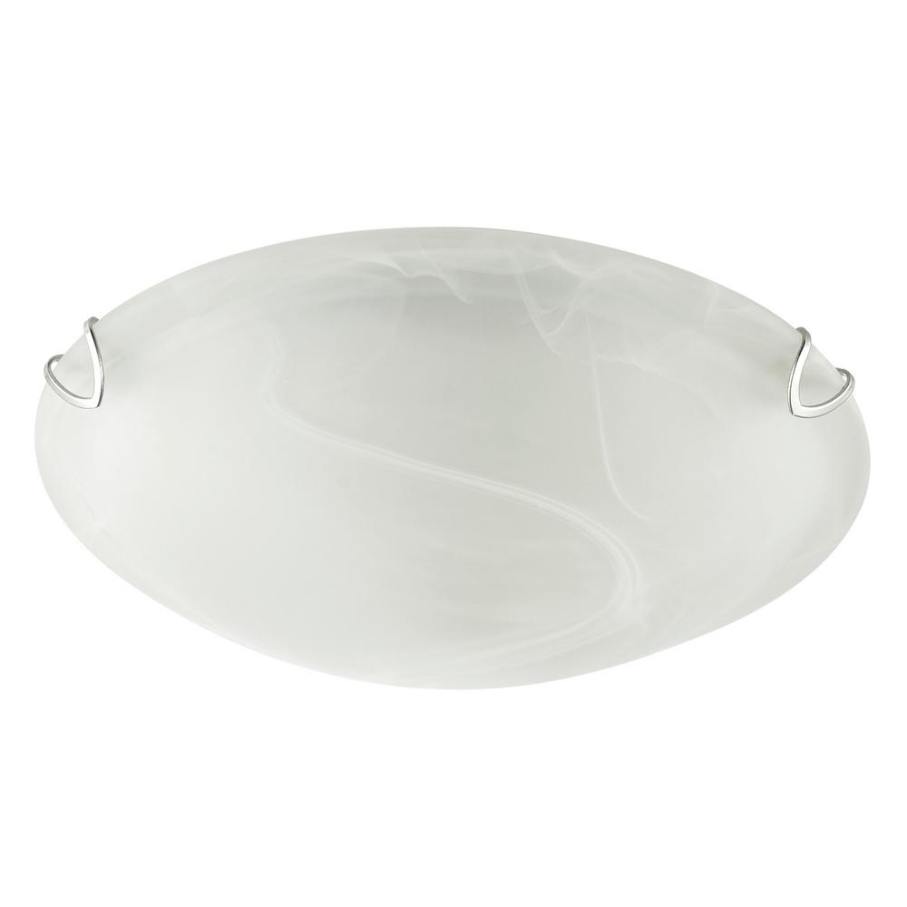 Globe Electric Pennington 2 Pack 10 In Frosted White Alabaster Glass Flush Mount Ceiling