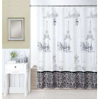 Stroll Through Paris 16-Piece Ceramic Accessories and Shower Curtain Set