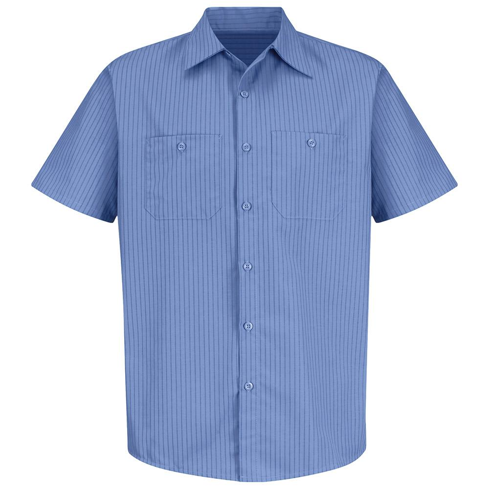 0cfc1bb9913259 Red Kap Men's Size M Petrol Blue / Navy Stripe Industrial Stripe ...