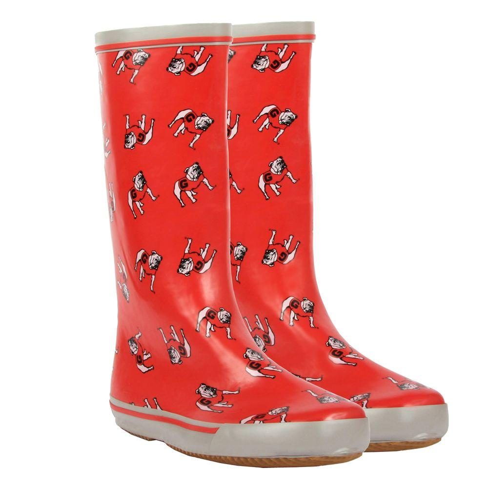 FANSHOES 12 in. Rubber NCAA Georgia Bulldogs Team Boot Size 9-DISCONTINUED