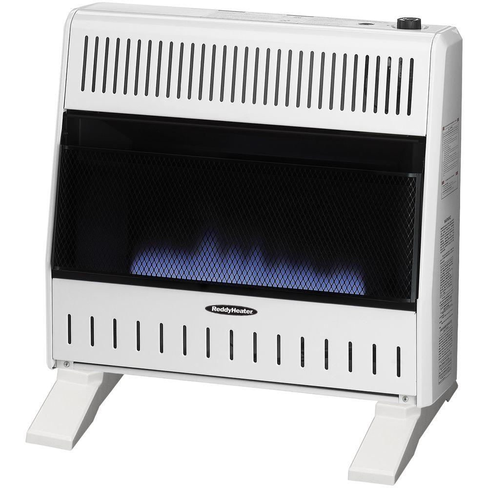 Reddy Heater 30,000 BTU Blue Flame Dual-Fuel Wall Heater with Blower