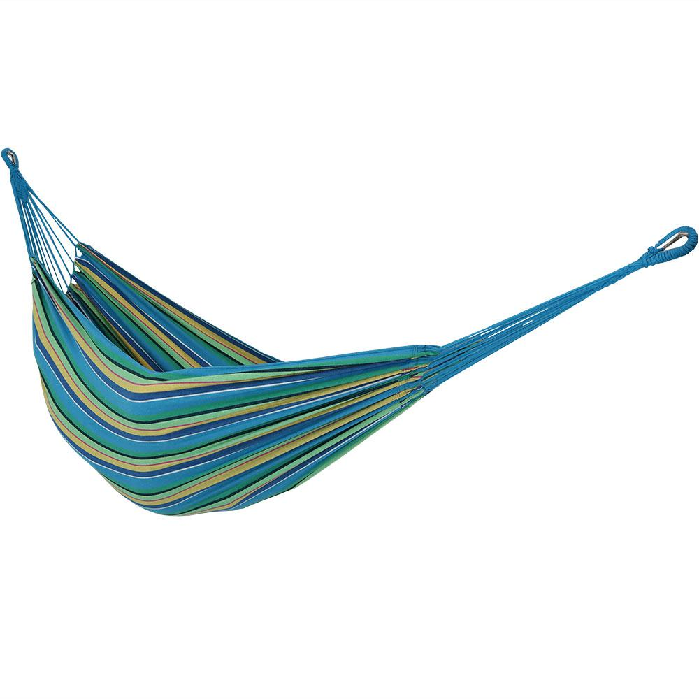 10.5 ft. Fabric Cotton Double Brazilian Hammock in Sea Grass
