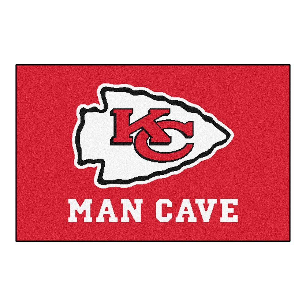 d3bddd07 FANMATS NFL Kansas City Chiefs Red Man Cave 2 ft. x 3 ft. Area Rug