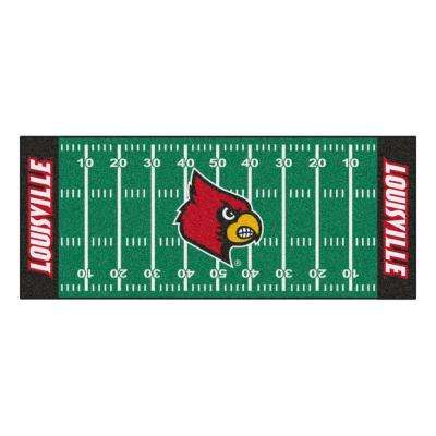 University Of Louisville 3 Ft X 6 Football Field Runner Rug
