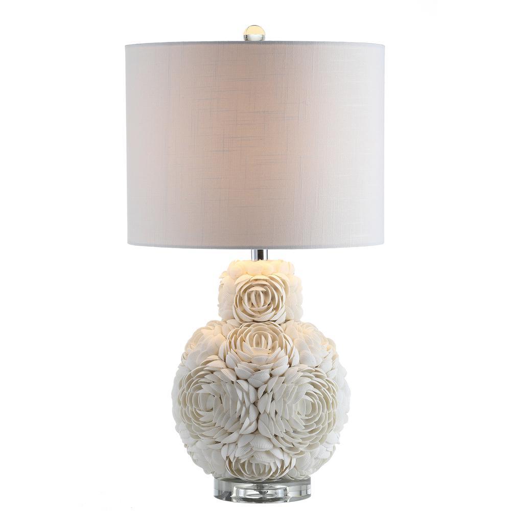 Seashell Rosette 24 in. White LED Table Lamp