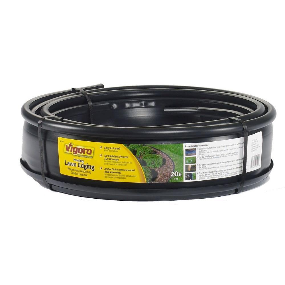 18 in. x 18 in. x 4.5 in. Black Plastic Lawn Edging