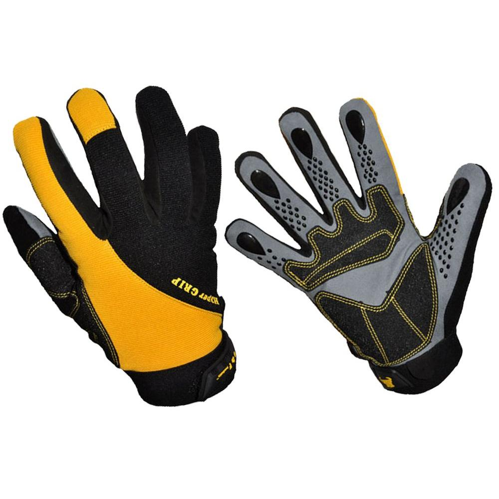 Hyper Grip Large Non-Slip High-Performance Work Gloves