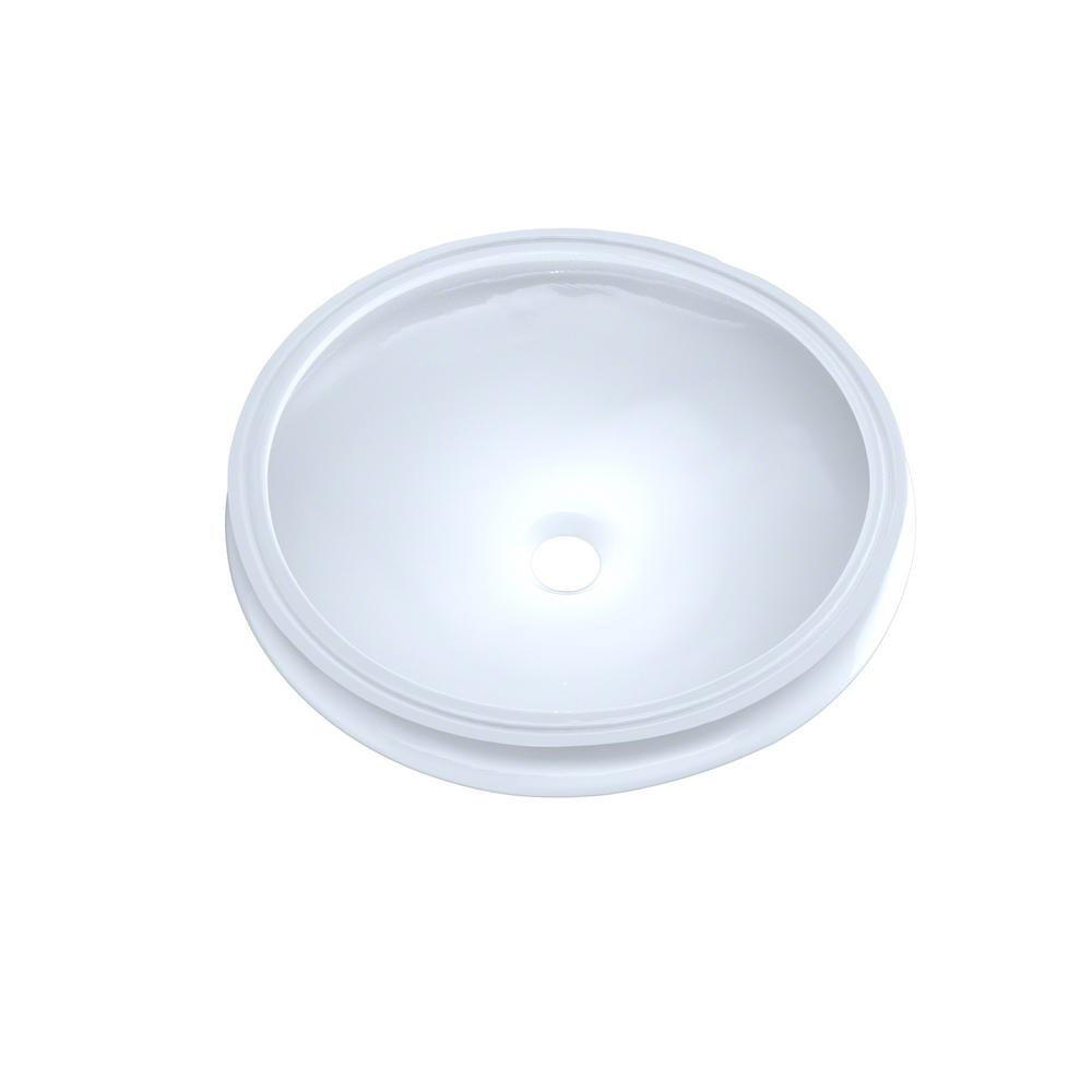 Toto Curva 14 In Undermount Bathroom Sink In Cotton White Lt183 01 The Home Depot