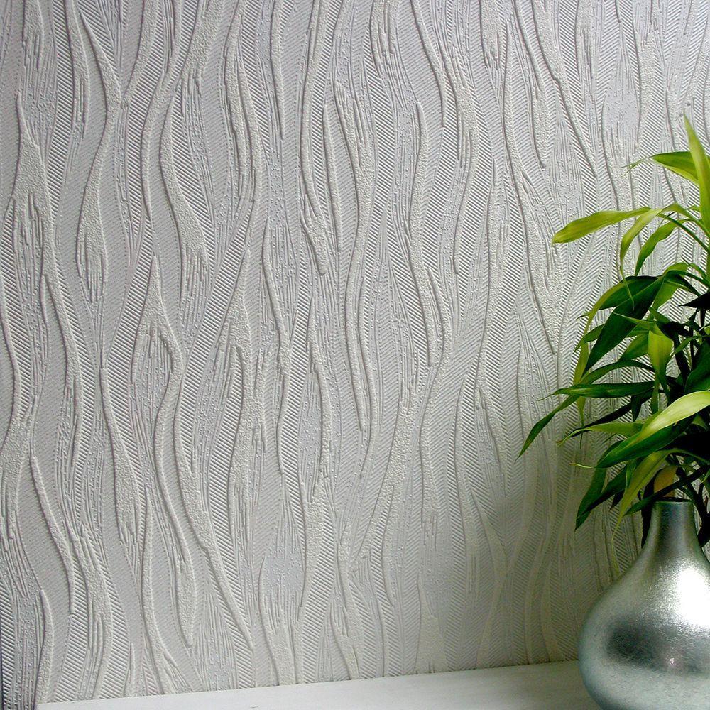 57.5 sq. ft. Caiger Paintable Textured Vinyl Wallpaper